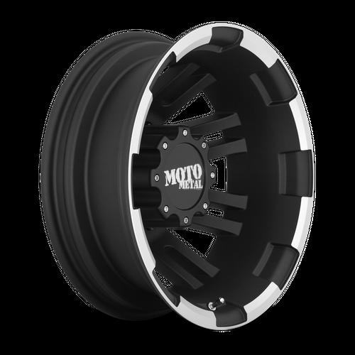 Moto Metal MO963 17x6 -134MM 8x165.1 MATTE BLACK MACHINED DUALLY - REAR MO96376080794N