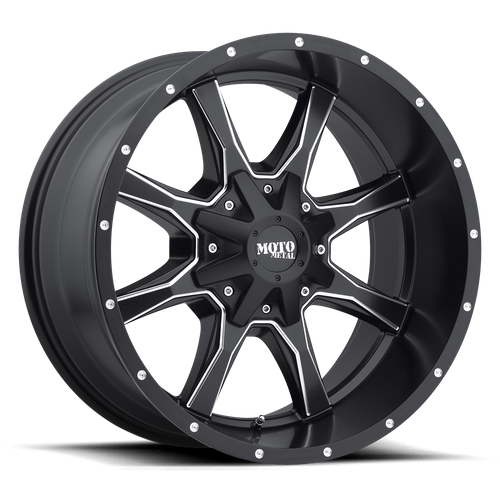 Moto Metal MO970 16x8 00MM 8x165.1 SATIN BLACK MILLED MO97068080900