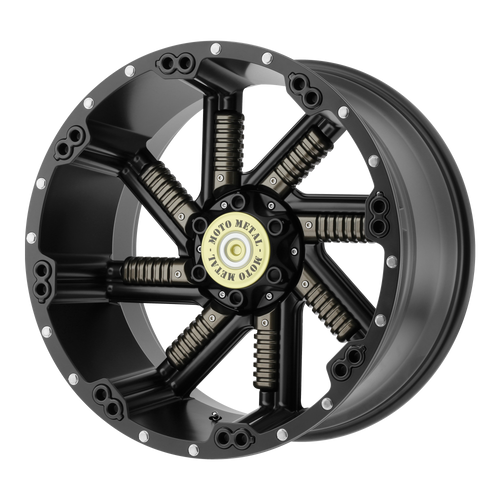 Moto Metal MO979 BUCKSHOT 20x10 -24MM 5x127/5x139.7 SATIN BLACK W/ GUN METAL INSERTS MO97921035724N