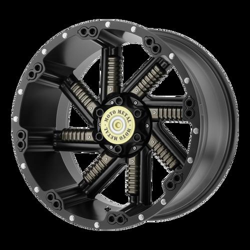 Moto Metal MO979 BUCKSHOT 20x10 -24MM 5x139.7/5x150 SATIN BLACK W/ GUN METAL INSERTS MO97921086724N