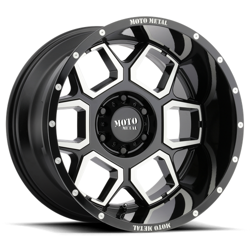 Moto Metal MO981 SPADE 20x10 -24MM 8x170 GLOSS BLACK MACHINED MO98121087324N