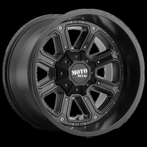 Moto Metal MO984 SHIFT 20x10 -24MM 8x165.1 MATTE BLACK W/ G-BLK INSERTS MO98421080724N
