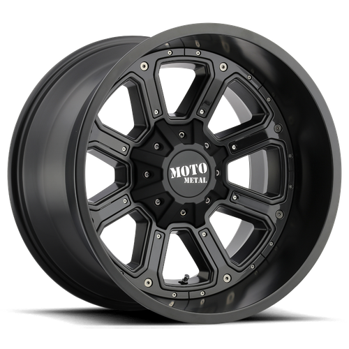 Moto Metal MO984 SHIFT 17x9 -12MM 8x165.1 MATTE BLACK W/ G-BLK INSERTS MO98479080712N