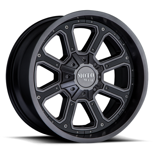 Moto Metal MO984 SHIFT 18x9 -12MM 5x127/5x139.7 MATTE GRAY W/ G-BLK INSERTS MO98489035412N