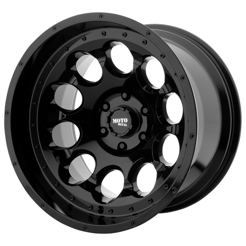 Moto Metal MO990 ROTARY 17x9 -12MM 8x165.1 GLOSS BLACK MO99079080312N