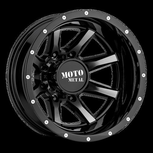 Moto Metal MO995 17x6.5 -140MM 8x200 GLOSS BLACK MACHINED - REAR MO995765823140N