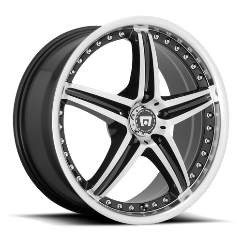 Motegi MR107 D5S 16x7 45MM 5x110 GLOSS BLACK MACHINED MR10767042345