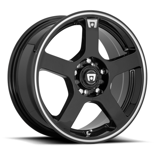 Motegi MR116 FS5 15x6.5 40MM 4x100/4x108 GLOSS BLACK W/ MACHINED FLANGE MR11656508340