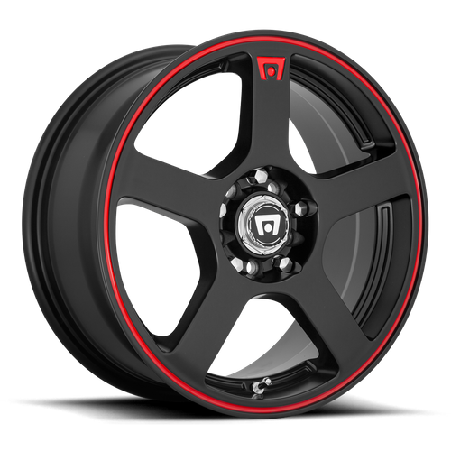 Motegi MR116 FS5 15x6.5 40MM 4x100/4x114.3 MATTE BLACK W/ RED STRIPE MR11656598740