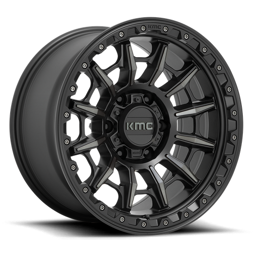 Kmc KM547 CARNAGE 17x9 -12MM 5x127 SATIN BLACK W/ GRAY TINT KM54779050412N