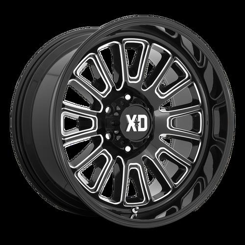 Xd XD864 ROVER 22x10 -18MM 8x180 GLOSS BLACK MILLED XD86422088318N
