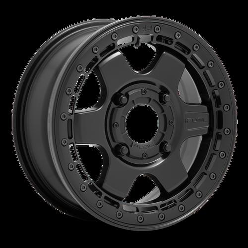 Fuel Utv BLOCK BL - OFF ROAD ONLY 15x6 38MM 4x137 MATTE BLACK W/ BLACK RING D9221560A650
