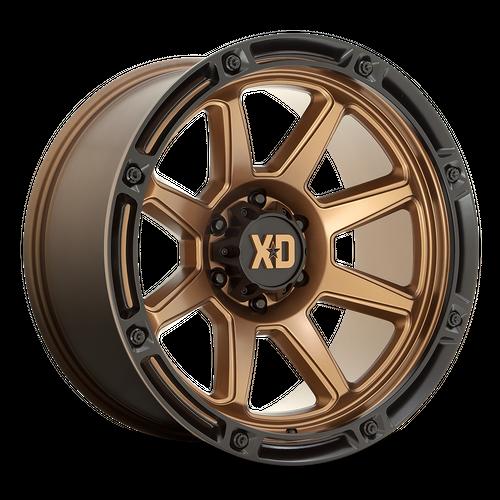 Xd XD863 20x10 -18MM 8x165.1 MATTE BRONZE W/ BLACK LIP XD86321080618N