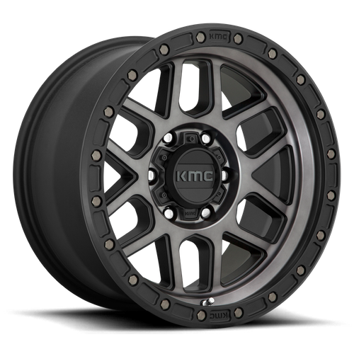 Kmc KM544 MESA 17x9 -12MM 5x150 SATIN BLACK W/ GRAY TINT KM54479058412N