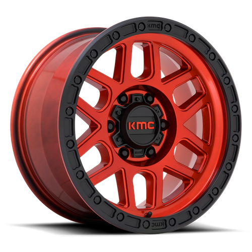 Kmc KM544 MESA 17x9 -12MM 5x150 CANDY RED W/ BLACK LIP KM54479058912N