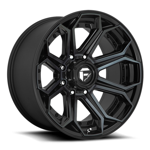 Fuel Offroad SIEGE 18x9 -12MM 6x139.7 GLOSS MACHINED DOUBLE DARK TINT D70418908445