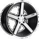 Niche MILAN 22x9 38MM 5x114.3 GLOSS BLACK BRUSHED M124229065+38