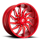 Fuel Offroad SABER 20x10 -18MM 8x165.1 CANDY RED MILLED D74520008247