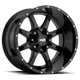 Moto Metal MO970 17x8 42MM 5x160 GLOSS BLACK W/ MILLED LIP MO970780163A42