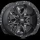 Moto Metal MO970 17x8 42MM 5x160 SATIN BLACK MILLED MO97078016942