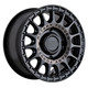 Black Rhino Powersports SANDSTORM UTV 15x7 36MM 4x110 SEMI GLOSS BLACK W/ MACHINED TINT 1570SND364110M80