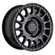 Black Rhino Powersports SANDSTORM UTV 15x7 51MM 4x137 SEMI GLOSS BLACK W/ MACHINED TINT 1570SND514136M06