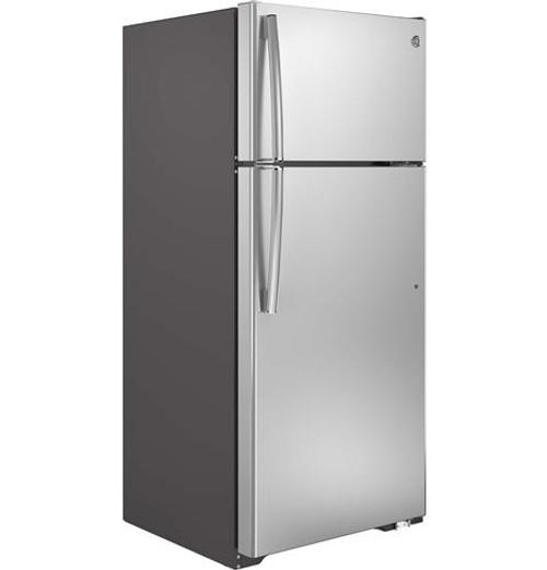 17.5 cu. Ft. Top-Freezer Refrigerator - Stainless Steel