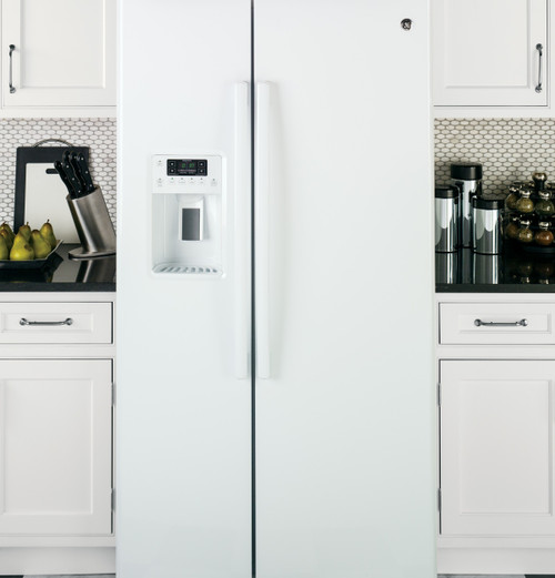 25.3 cu. Ft. Side-By-Side Refrigerator - White
