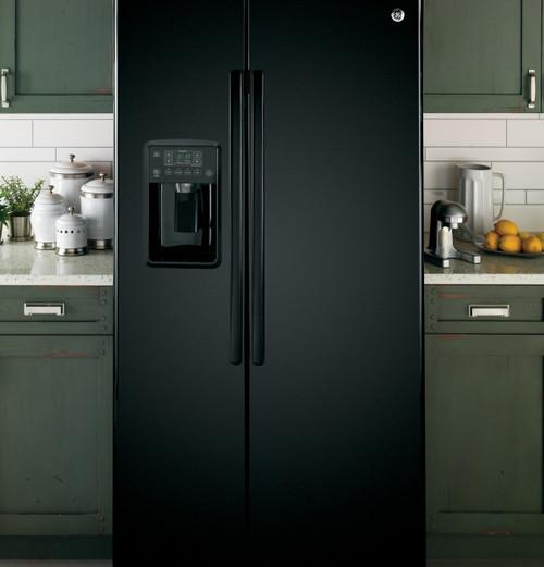 25.3 cu. Ft. Side-By-Side Refrigerator - Black