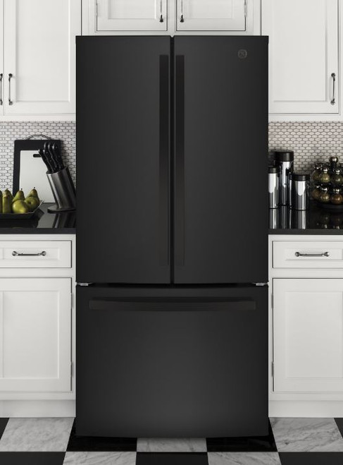 24.7 cu. Ft. Energy Star French-Dorr Refrigerator- Black