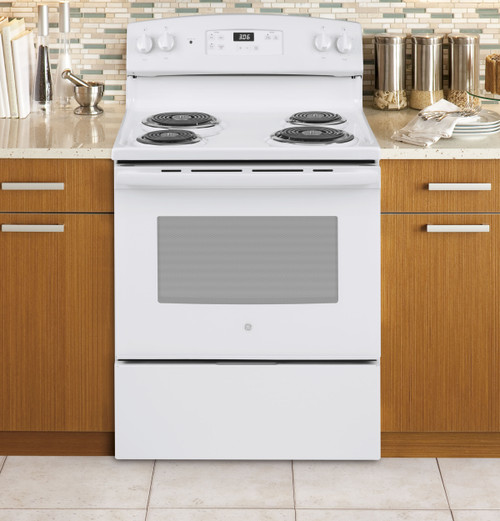 "30"" Free-Standing Electric Range Oven - White or Black"