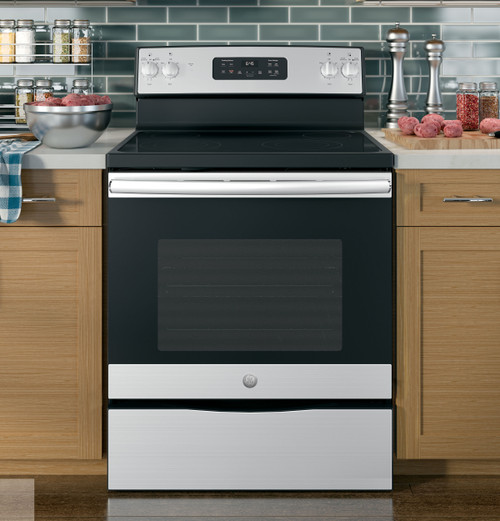 "30"" Free-Standing Electric Range Glass Top Oven - Stainless Steel"