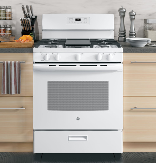 "30"" Free-Standing Gas Range Oven - White or Black"