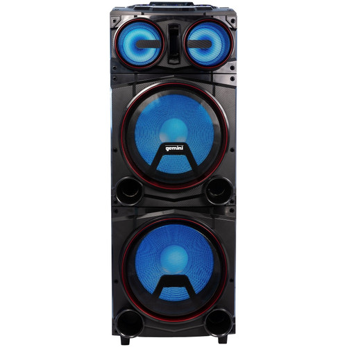 "GMAX-6000: Dual 15"" Bluetooth Party Stereo System"