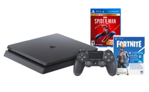PS4 1TB Console Bundle with Spiderman & Fortnite