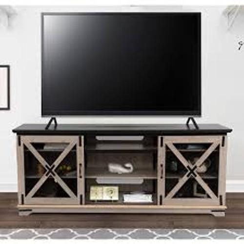 Denver TV Console - Taupe Oak