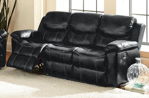 Champion Double Reclining Sofa - Black