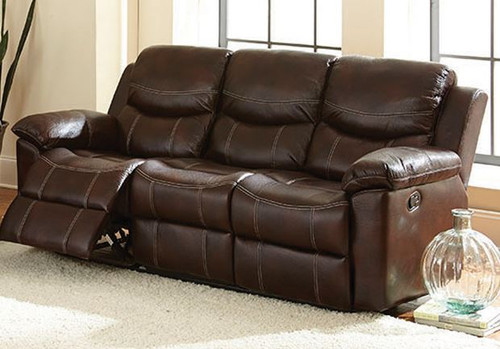 Champion Double Reclining Sofa - Chestnut