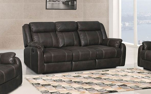 Gin Rummy Double Reclining Sofa - Charcoal