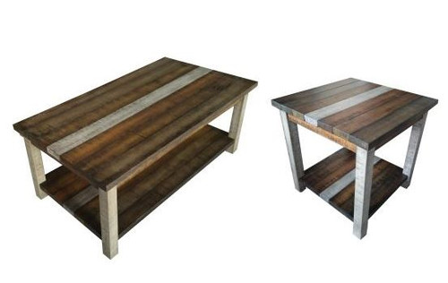 Rustic Retrieve Occasional Table Set - Cocktail Table & Two End Tables