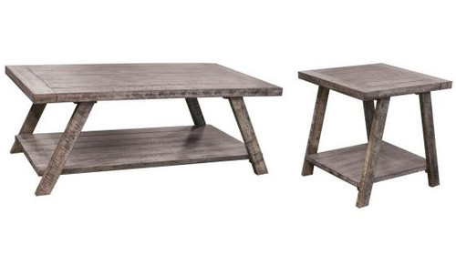 Cloud Gray Occasional Table Set -  Cocktail Table & Two End Tables