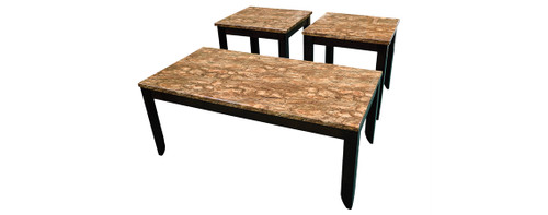 Desert Barkstone Occasional Table Set - Cocktail Table & Two End Tables