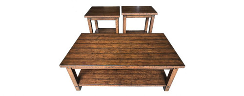 Woodsmand Occasional Table Set - Cocktail Table & Two End Tables