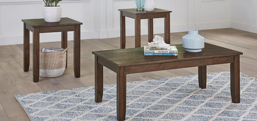 Langston Dark Occasional Table Set - Cocktail Table & Two End Tables