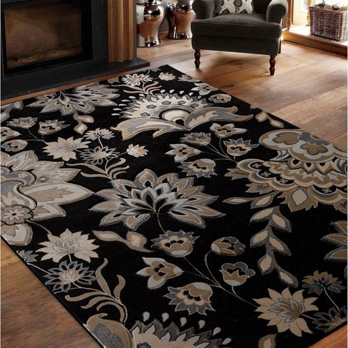 Glamor Rectangular Rug - Black