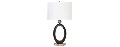 Steel & Wood Table Lamps 2PC Set