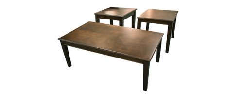 Merlot Cocktail Table & Two End Tables