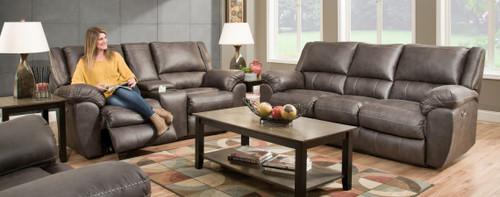 Shiloh Granite Double Reclining Sofa