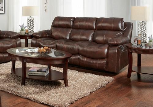 Positano Cocoa Power Reclining Sofa