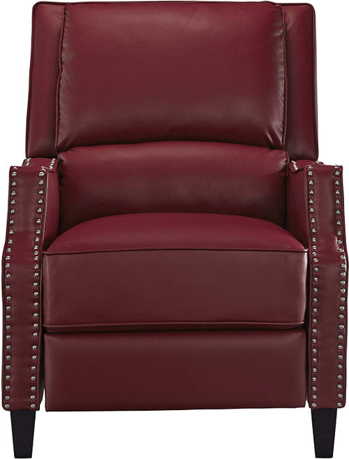 RECLINER ALSTON PUSH BACK CHARCOAL/BLACK/RED